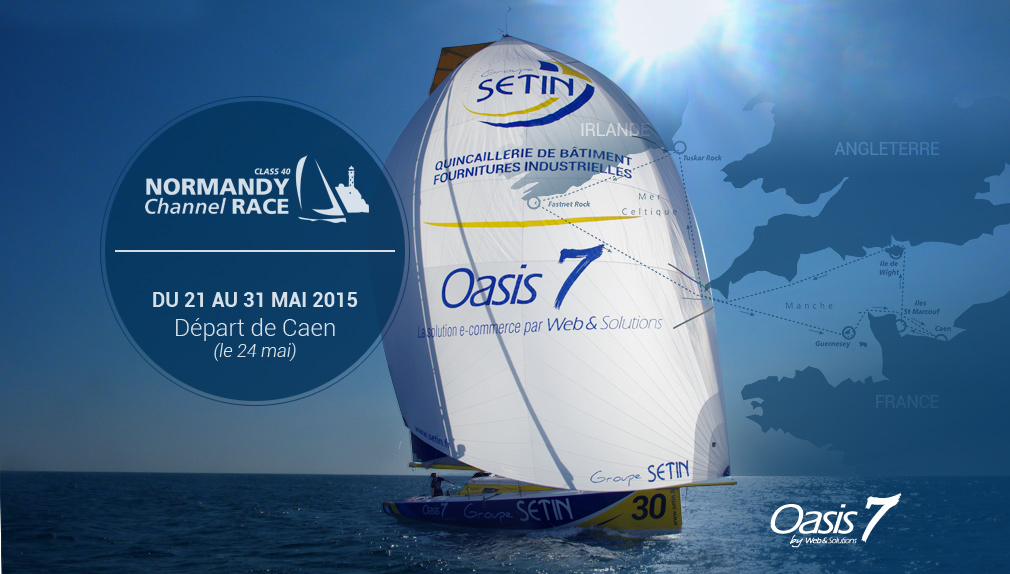 Le Groupe SÉTIN et Web et Solutions parrains du voilier Class40-SETIN