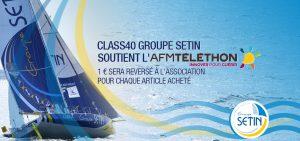 Class40 Groupe Setin partenaire de l'AFM-Téléthon