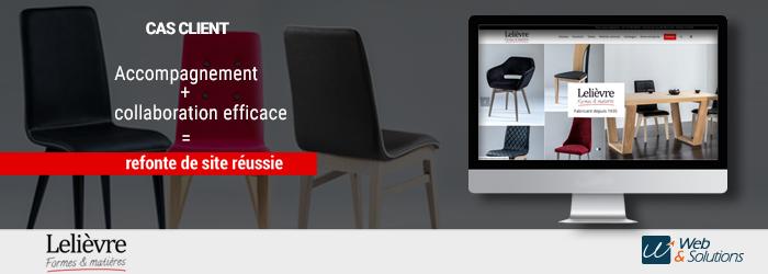 [CHAISES LELIÈVRE] Refonte d'un site catalogue non marchand pour un fabricant de meubles