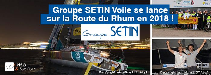 Le Groupe SETIN se lance sur le circuit IMOCA jusqu'en 2021 avec le skipper Manuel Cousin