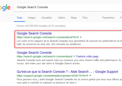 Utiliser l'outil Google Search Console pour le SEO